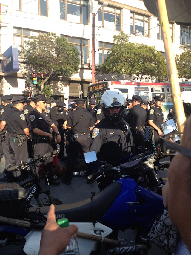 police protest muni mission