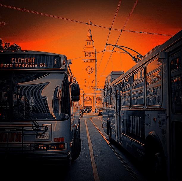 orange muni bus 2 clement