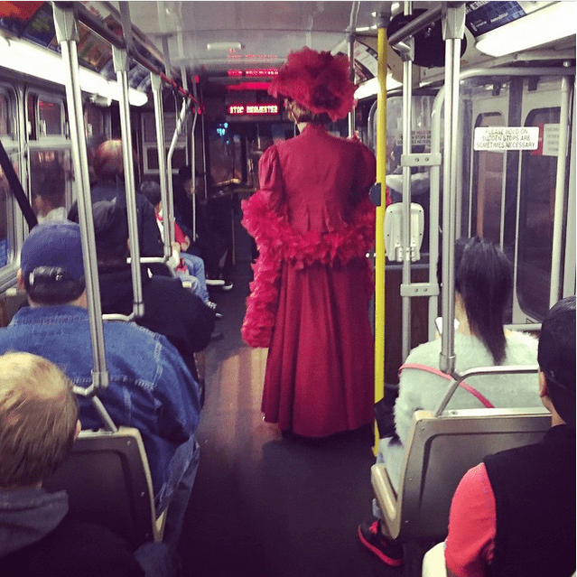 victorian lady on muni