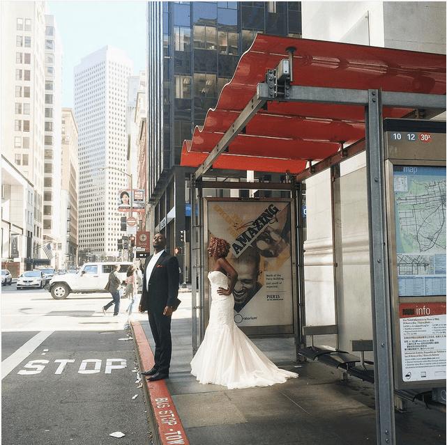 muni stop wedding bride groom by mariel_v