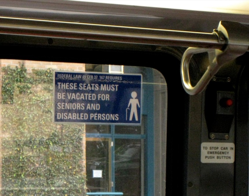 disabled seats