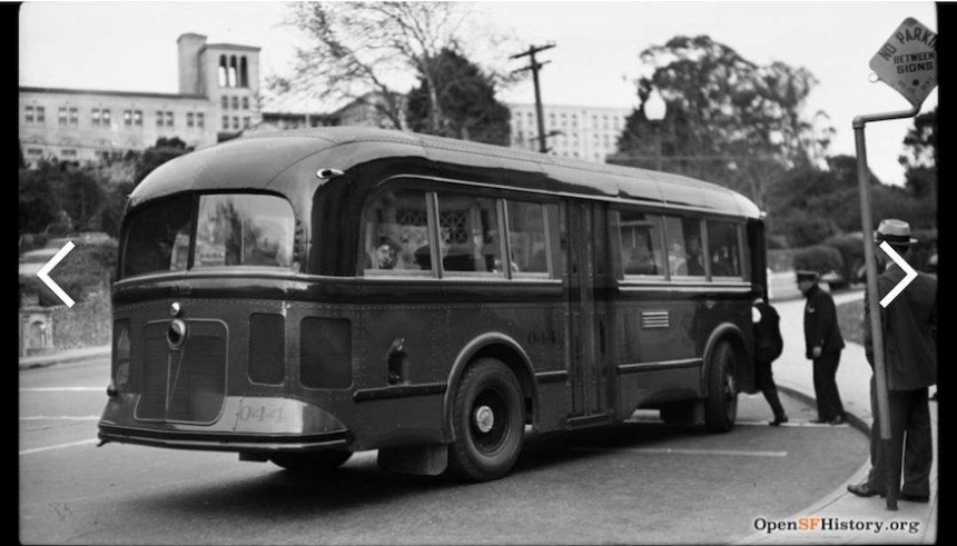 old Muni bus from openSFhistory.org
