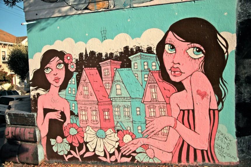 Muni Diaries Lower Haight mural