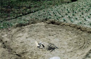 Construcción de cisternas subterráneos de recolección de agua pluvial, definición del área
