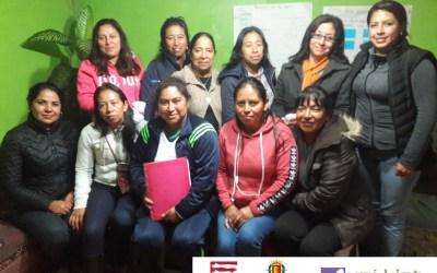 Grupo de mujeres fortaleciendo sus capacidades sobre cambio climático y equidad de género en el Municipio de San Antonio Sacatepéquez
