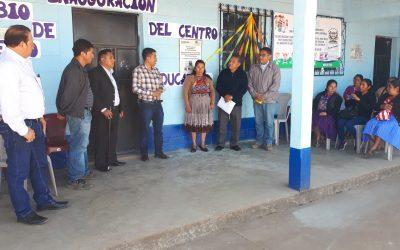 Emotivo acto inaugural de la reconstrucción de aulas en el Municipio de San Antonio Sacatepéquez.