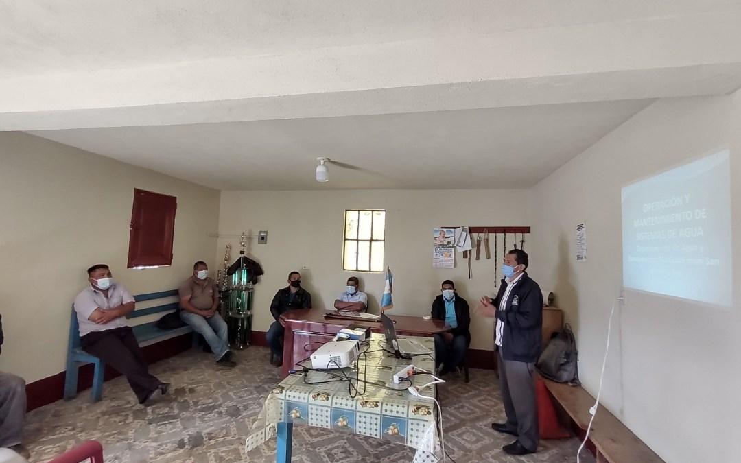 MUNI-K´AT  sigue fortaleciendo la gestión comunitaria  de los recursos hídricos en el Municipio de San Antonio Sacatepéquez.