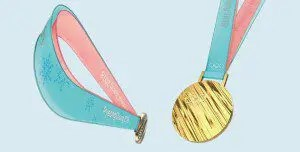 pyeong olympic medal ribbon