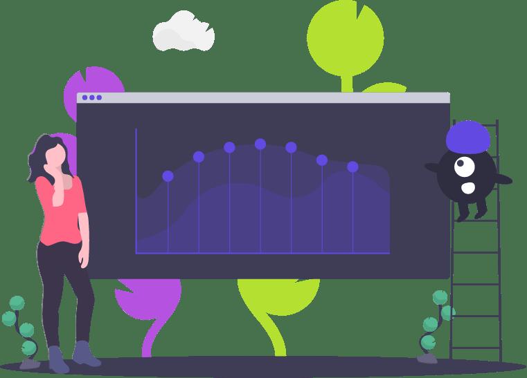 Ilustración mostrando un dashboard de Sammu