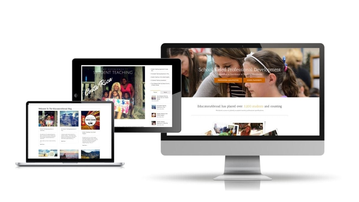 Website Design US Education Client
