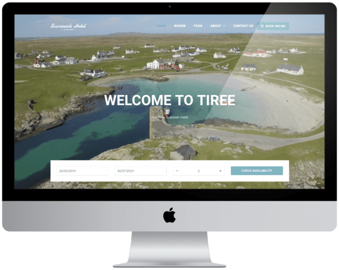Website Design Tiree Scarinish Hotel
