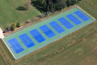 commercial tennis court construction