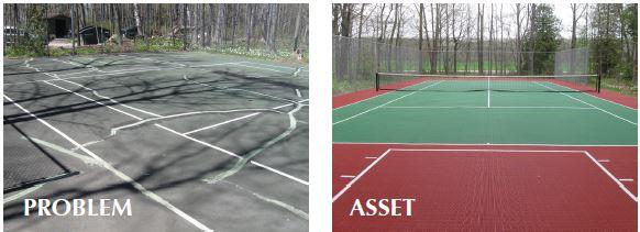 tennis court maintenance, repair, Milwaukee
