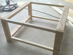 Assembled frame.