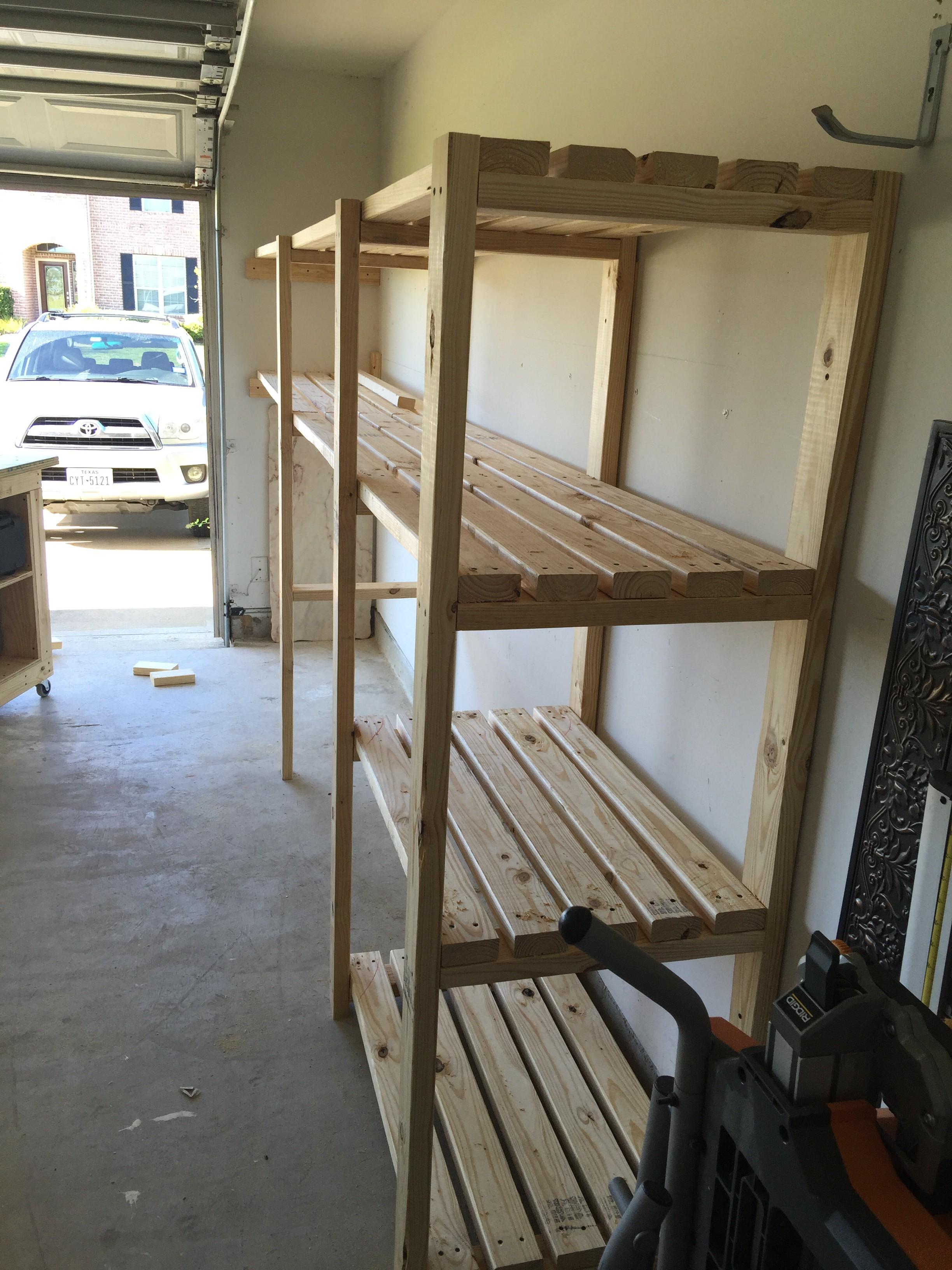 shelf gallery imgur steel garage build on album dry wood fit and