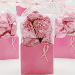 American Cancer Pink Foiled Hearts 8 oz