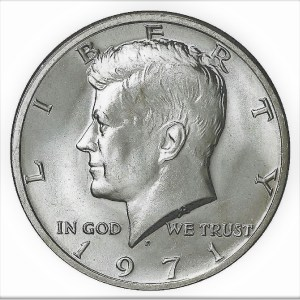 Half dollar JFK