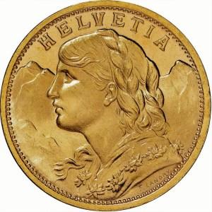 20 frank switzerland goudenmunt