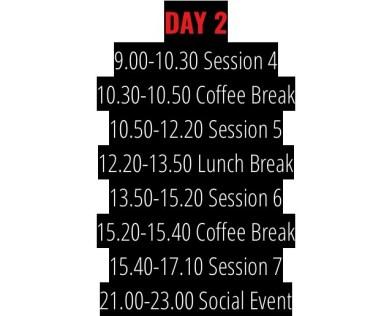 AlphaMUN Schedule Day 2