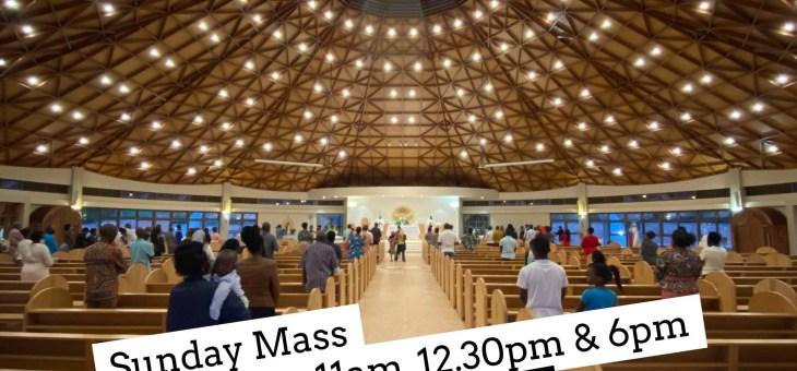 Sunday Mass Schedule