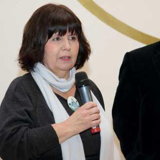 Dubravka Osrečki Jakelić obraća se nazočnima na otvorenju izložbe Photodays 2016 u ime Miroslava Gašparovića, ravnatelja MUO