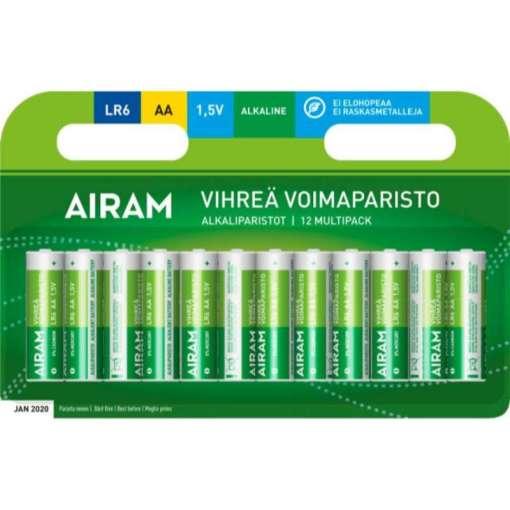 Paristo AA alkali vihreä 12 kpl Airam