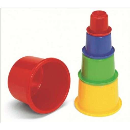 Plasto leikkipikarit pinottavat purkit