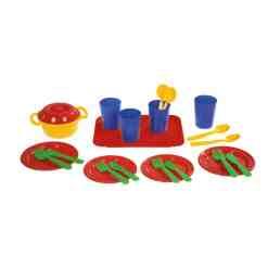 Plasto ruoka-astiasto neljälle