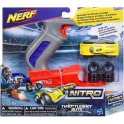 Nerf Nitro auto ja laukaisin, keltainen