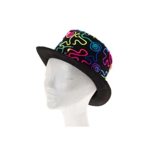 Hattu silinteri värikäs kuvio