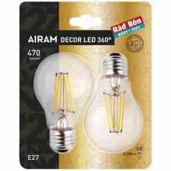 Led lamppu E27 4,5 W 470 L, 2 kpl (40W)