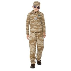 Lasten naamiaisasu Armeija