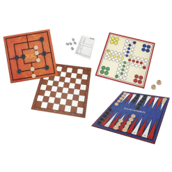Brain Games 6 in 1 tammi, mylly, ludo, yatzy, backgammon & shakki