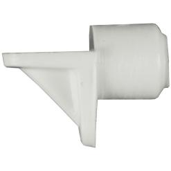 Hyllynkannatin 8 mm tappi valkoinen 12 kpl