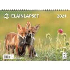 Kalenteri seinäkalenteri eläinlapset 2021