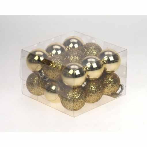Kuusenpallo 3 cm 18 kpl kulta