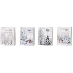 Lahjakassi joulu 31 x 12 x 42 cm valkoinen