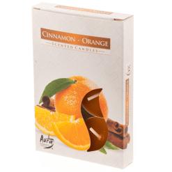 Lämpökynttilä tuoksu Cinnamon-orange 6 kpl
