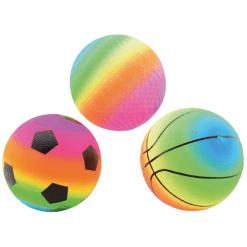 Pallo 20 cm Rainbow erilaisia