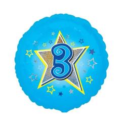 Foliopallo 3 vuotta sininen
