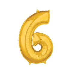 Folionumeropallo 6 kultainen 66 cm