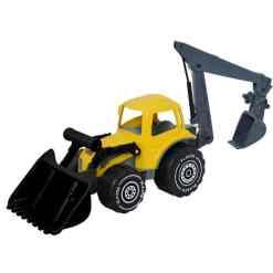 Plasto kauhatraktori ja kaivuri