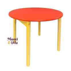Lasten pöytä punainen puinen