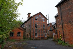 An old 3 storey mill building