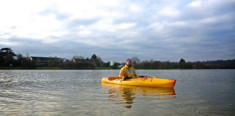 Silly bloke in a yellow kayak