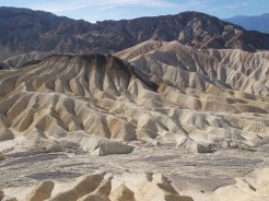 Detail shot of rolling rock formations at Zabriskie Point