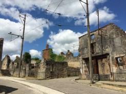 Ruined street in Oradour sur Glane