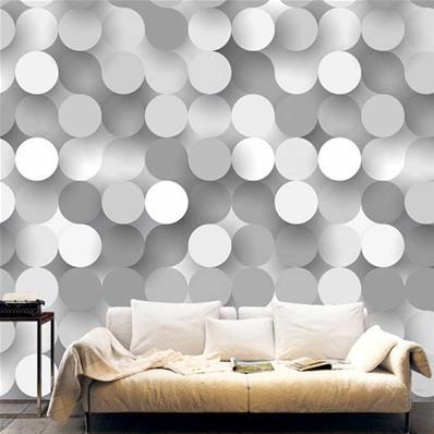 papier peint 3d panoramique gris et blanc roundy
