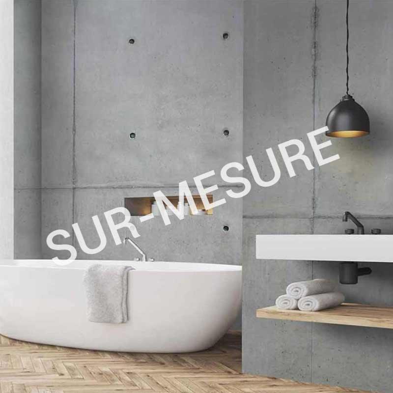 papier peint aspect beton luxe sur mesure