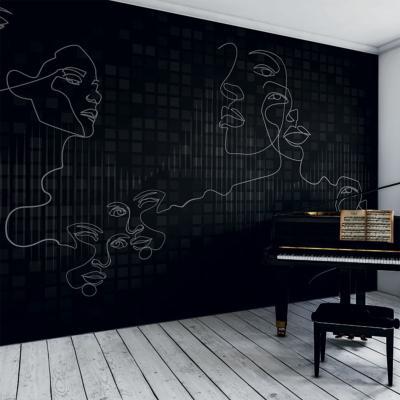papier peint design noir et blanc stand by me